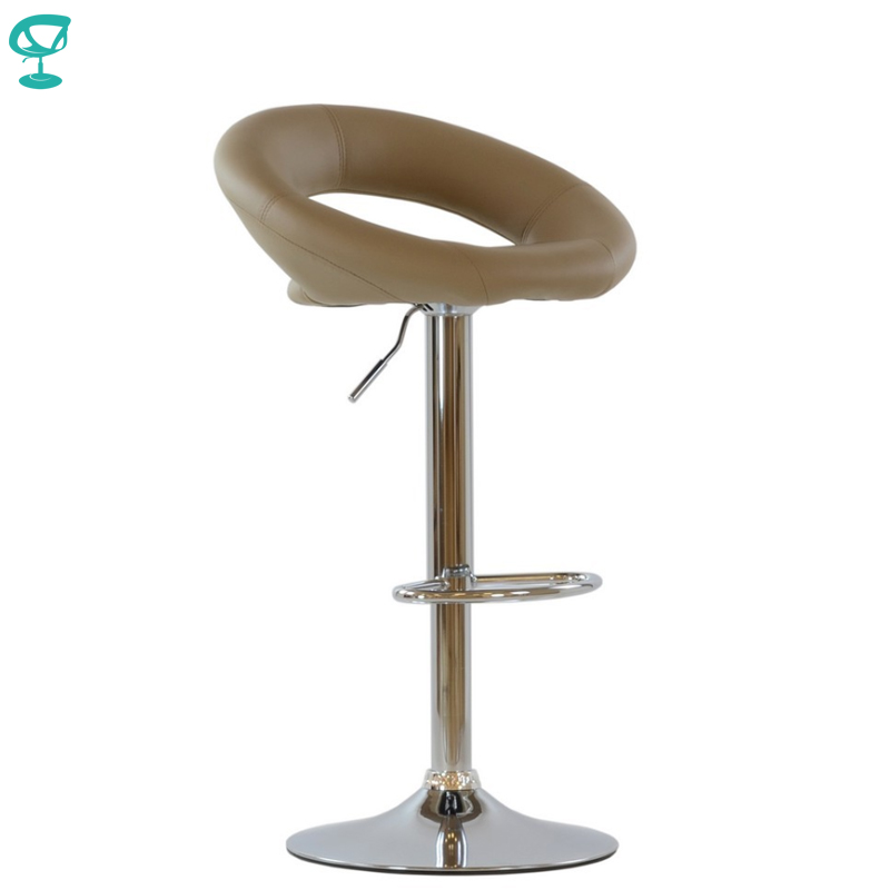 94767 Barneo N-84 Leather Kitchen Breakfast Bar Stool Swivel Bar Chair Light Brown Color Free Shipping In Russia