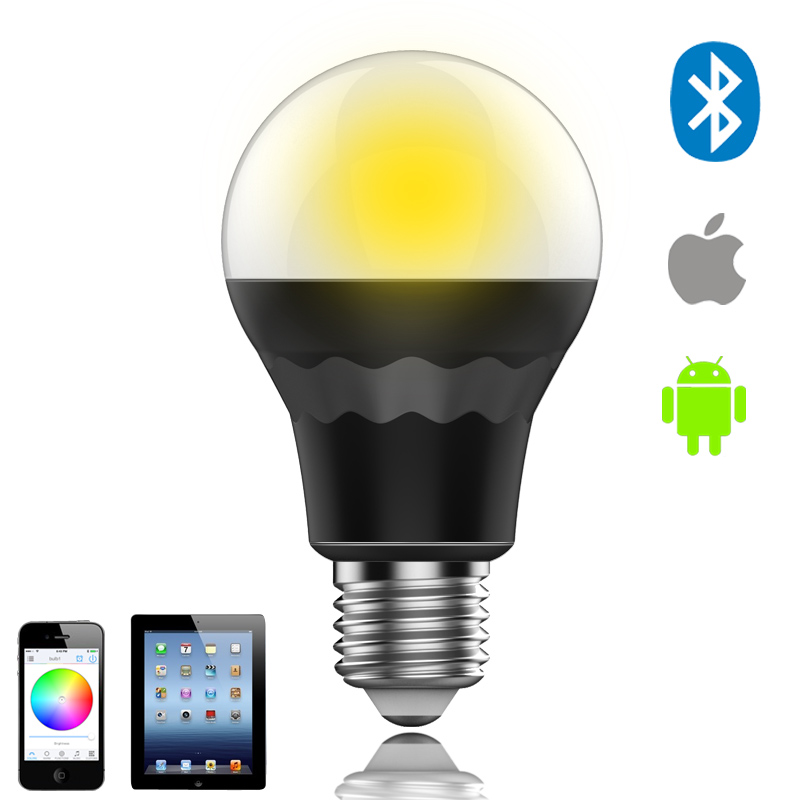 Bluetooth LED Bulb Connected to phone(RGBW Smart LED Bulb Light Lamp by smartphone app or android