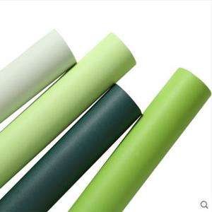 Image 5 - Nordic simple plain dark green self adhesive wall stickers living room bedroom TV background wall solid color wallpaper