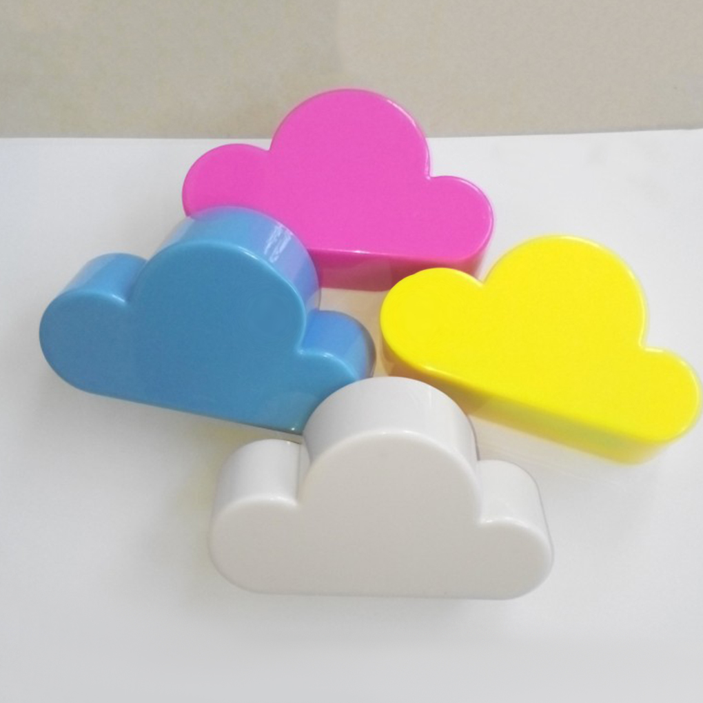 Hot Sell  Pink/Yellow Creative Cloud-shaped Wall   Keychain Magnets Wall Key Holder Keys