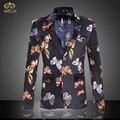 Miuk tamanho grande floral blazer dos homens roupas de marca 6xl 5xl Projetos Homens Blazer Slim Fit Blazer De Algodão da Flor da forma Masculino 2017