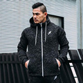 Muscle Brothers Outdoor Clothing Fitness Men 's Hoodies Full Zipper Sweatshirt Slim Winter Fashion Hooded Sweater