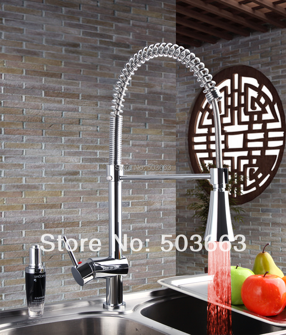 led vessel sink faucet kitchen basin mixer vessel tap basin faucet kitchen sink faucet F-0211 pull out kitchen faucet newly arrived pull out kitchen faucet gold sink mixer tap 360 degree rotation torneira cozinha mixer taps kitchen tap
