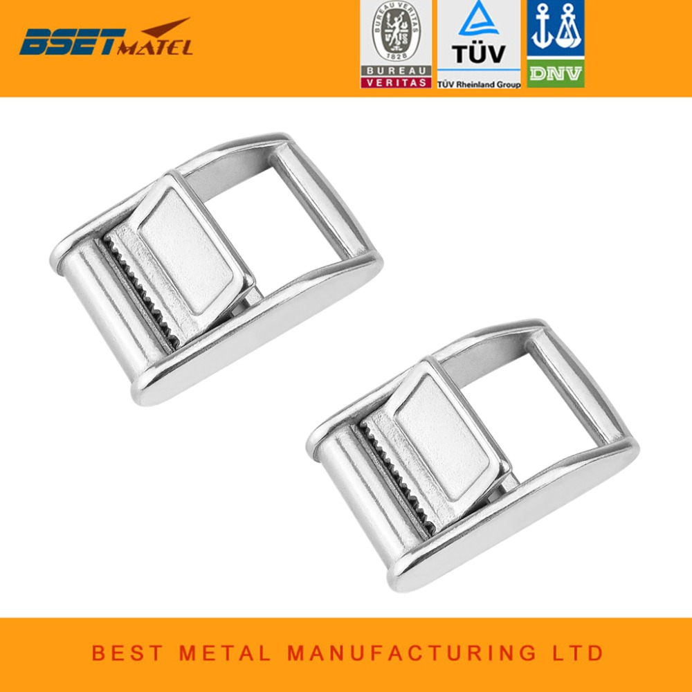 2X SS316 Cam Buckle Ratchet Buckle for 1(25mm) Tie Down Strap or Webbing Cargo Lashing Lash Luggage Bag Belt Metal Buckle ratchet tie down 5mx25mm metal buckle ratchet tie down strap 10m length