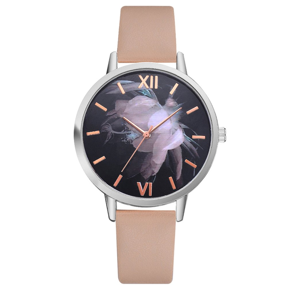 Young Fashion Women Watches Montre Creative Pattern Leather Womens Watches Top Brand  Multicolor Lady Watch For Woman