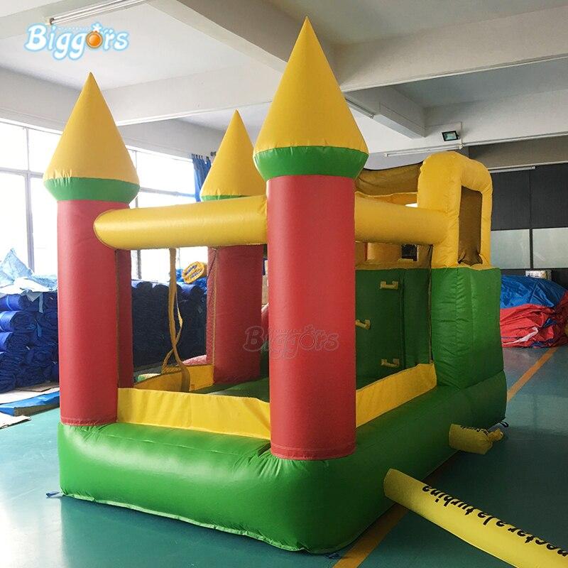 Maison gonflable combinée de rebond de château plein d'entrain gonflable de PVC de la cour 0.55mm avec la glissière - 2