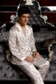 Sleepwear Male Autumn Long-Sleeve 100% Silk  Men Nightgowns Sleep Set/Sets Cute Family Leisure Pajamas Clothing