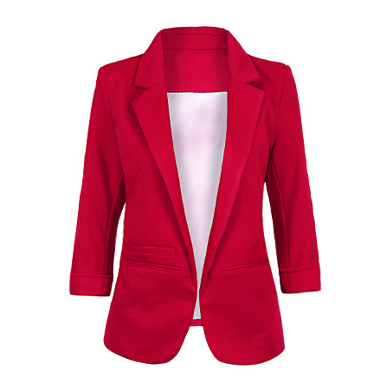 2019 Candy Color Seven-point Sleeves Small Suit Commuter Models Slim Women Blazers Casual Womens Clothing 6220