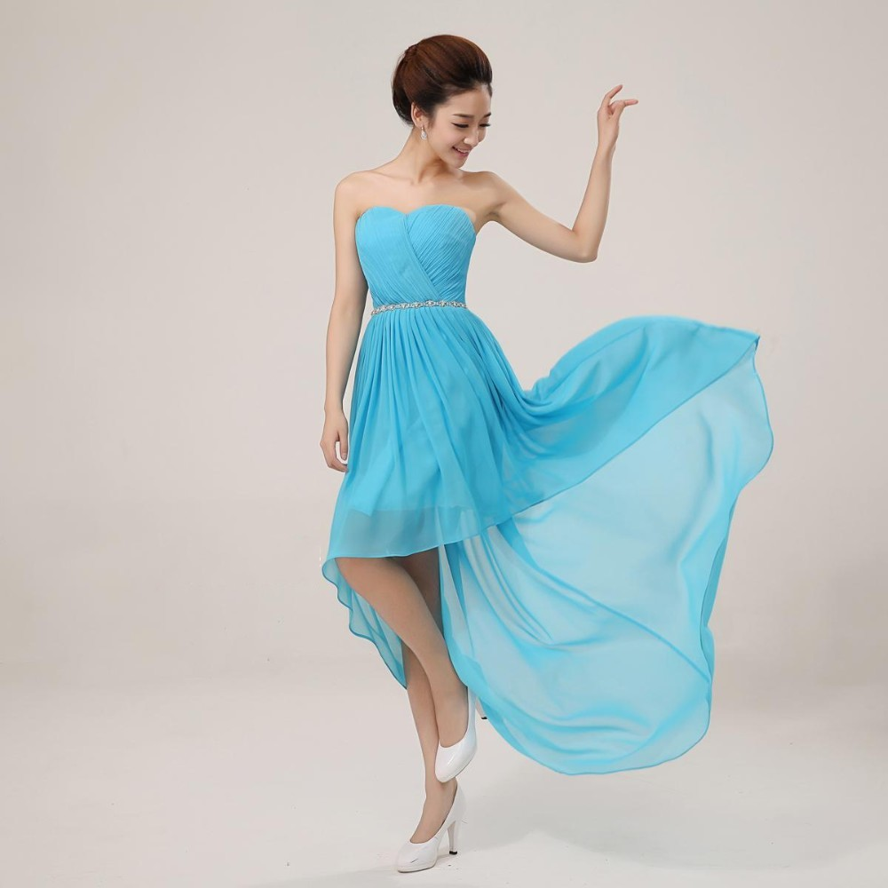 High Low Bridesmaid Dress for Wedding Party Gowns Chiffon Long Short ...