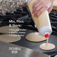 Batter Mixing Bottle Cupcake Muffin Tool Pancake Dispenser Waffles Batter Dispenser Mix Bottle Kitchen Cake Baking