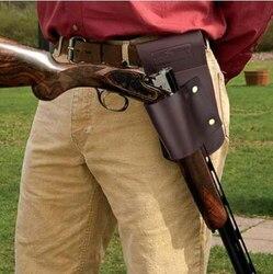 Tourbon accesorios de pistola de caza pistolera cinturón de cintura escopeta Rifle titular de cuero 26*17*5CM