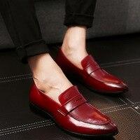 Big Size Men's Shoes Loafers Fashion Handmade Moccasins Soft Leather Blue Slip on Men's Boat Shoes Breathable Men Flats