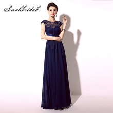 6cfc9b70ff Navy Blue Bridesmaid Dress with Sleeves Promotion-Shop for ...