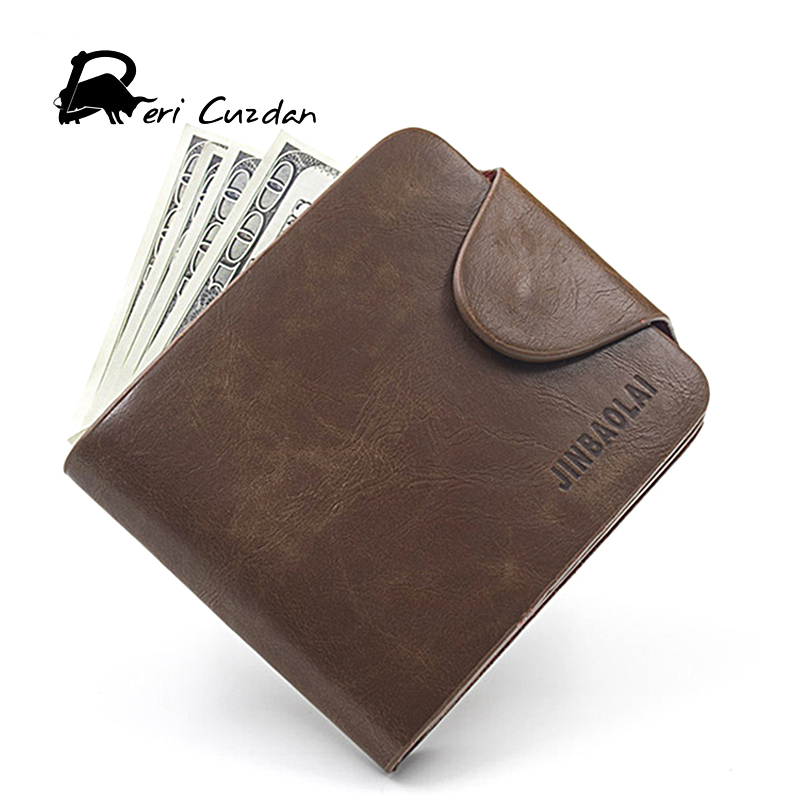 DERI CUZDAN Crazy Horse Wallets Men's Genuine Leather Wallet Hasp Brown Male with Mulit Cards Pocket Clutch Purses Portfolio Man туфли deri
