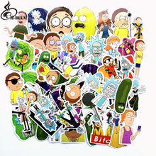 TD ZW 2018 69Pcs/lot American Drama Rick and Morty Stickers Decal For Snowboard Luggage Car Fridge Car- Styling Laptop Stickers 35pcs rick and morty vinyl stickers decal for window car laptop