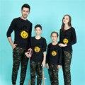 Cartoon Letter Family Look 2016 T Shirt Men Long Sleeve Brand Clothing Skate Harajuku Funny T-shirts Poleras Hombre Black Tshirt