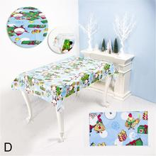 Christmas Print Tablecloth Innovative PVC Table Desktop Disposable DIY