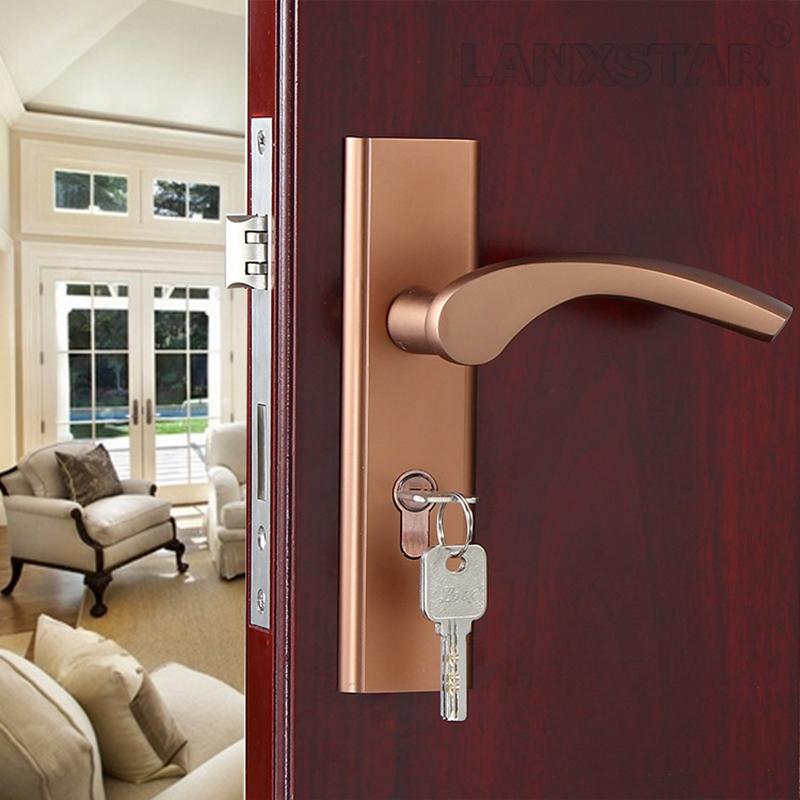 los fabricantes que venden de color caf de aluminio espacio puerta interior mango de bloqueo garanta de calidad mute lockcore