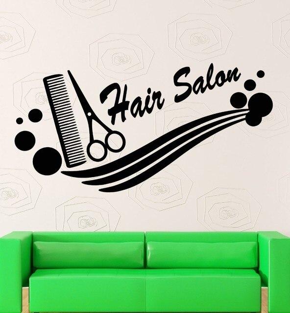 Logotipo Ferramentas Corte de Cabelo Do Barbeiro do Salão de beleza de  cabelo Stylist Vinil Adesivos