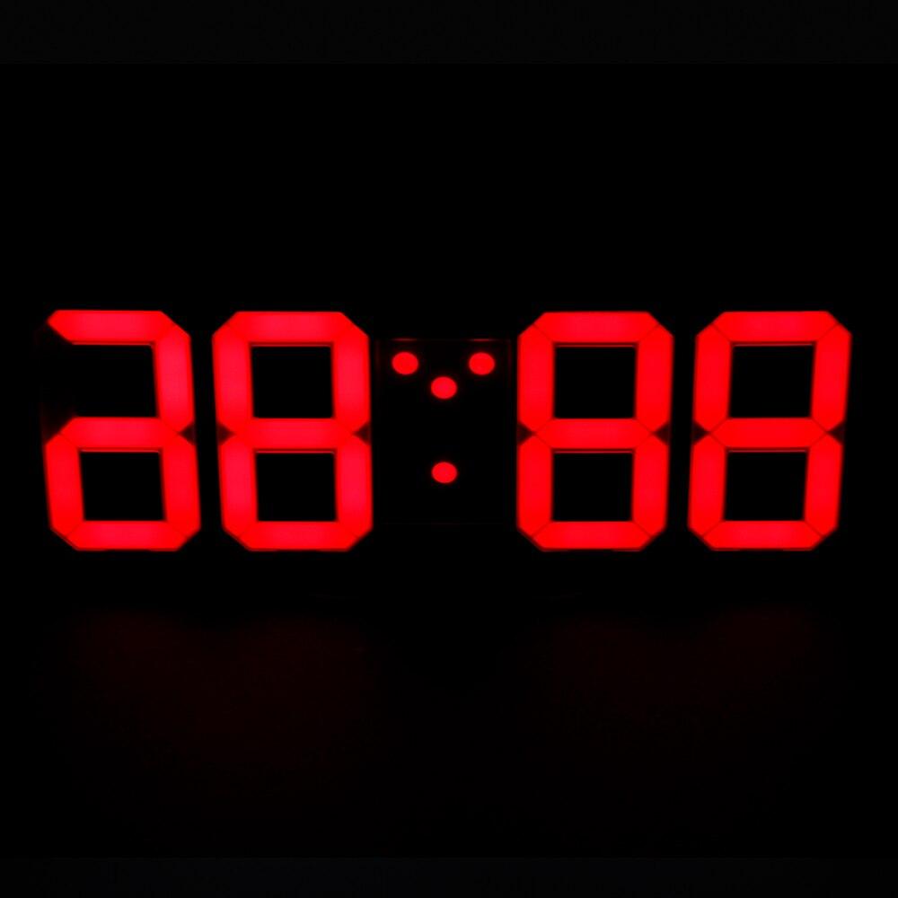 3D LED Wall Clock Digital Table Desktop Alarm Clock Nightlight Wall Clock For Modern Living Room Office 24/12 Hour
