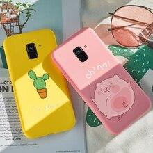 ASINA Cartoon Case For Samsung Galaxy A8 2018 Silicone Shockproof Plus Cover Funda Bumper Coque