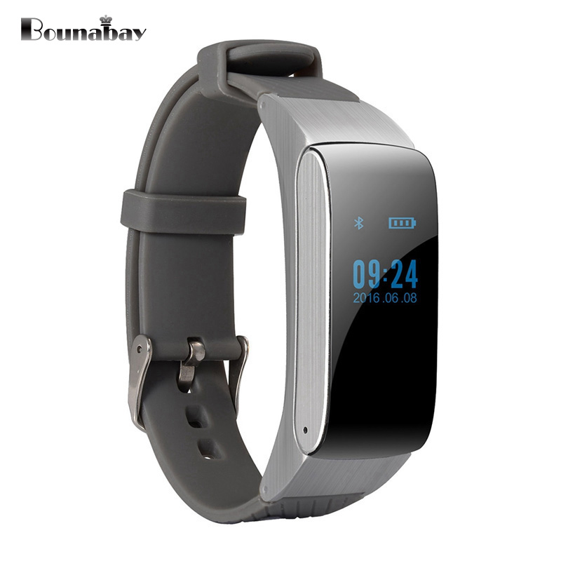 BOUNABAY Bluetooth 4.0 Smart woman watch with headset for apple android phone waterproof women Clock Touch Screen ladies Clocks