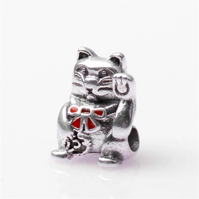 178562c8b ... italy authentic 100 925 sterling silver charm beads vintage lucky cat  beads fits for pandora bracelets ...