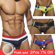 Sexy swimsuit Men Swimwear Swim Briefs Male Quick Dry Swimming Trunks Beach Shorts Boxer bathing suit Boy gay swim wear(China)