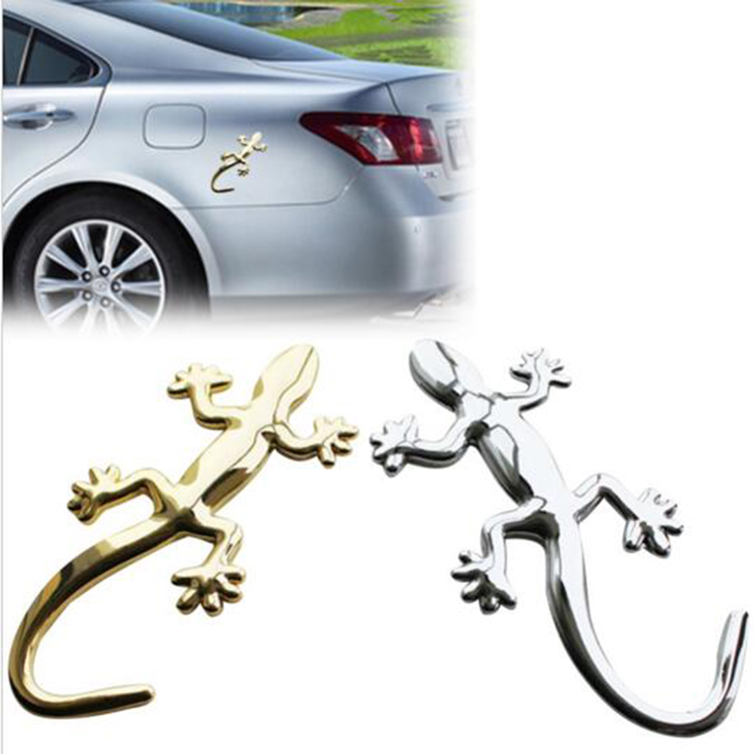Chrome Silver Lizard Gecko Badge Emblem For Audi Quattro A1 A4 A3 TT Q7 Sticker