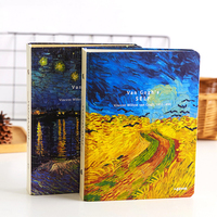 CXZY 2019 A5 B5 spiral Ring Binder Van Gogh Notebook paper vintage sketchbook travel journal book diary filofax 4B833|Notebooks|Education & Office Supplies -