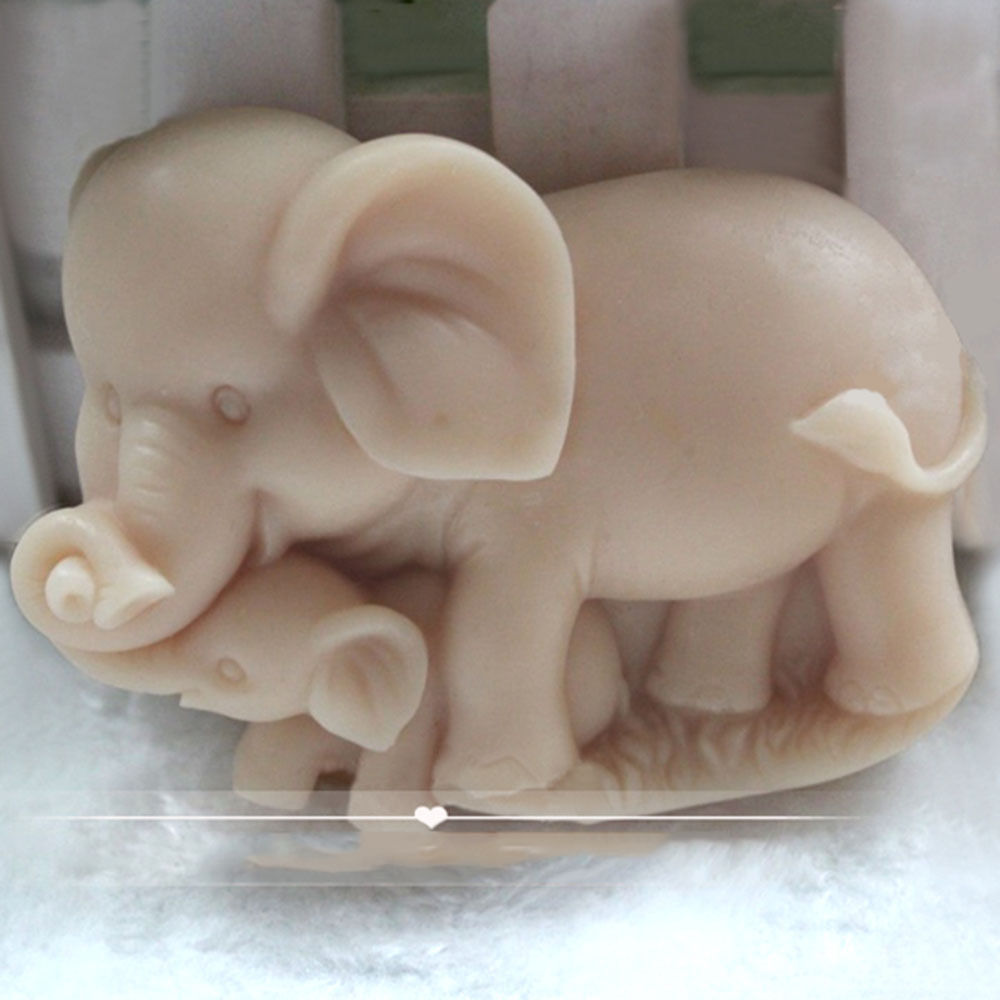 Soap Mold Silicone Craft Elephant Family Soap Making Mould DIY Candle Resin Mold