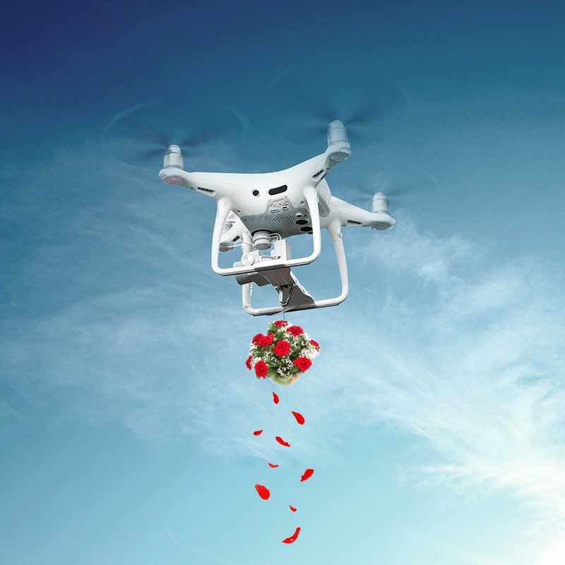 PGYTECH Remote Parabolic Air Dropping Holder Mount for DJI