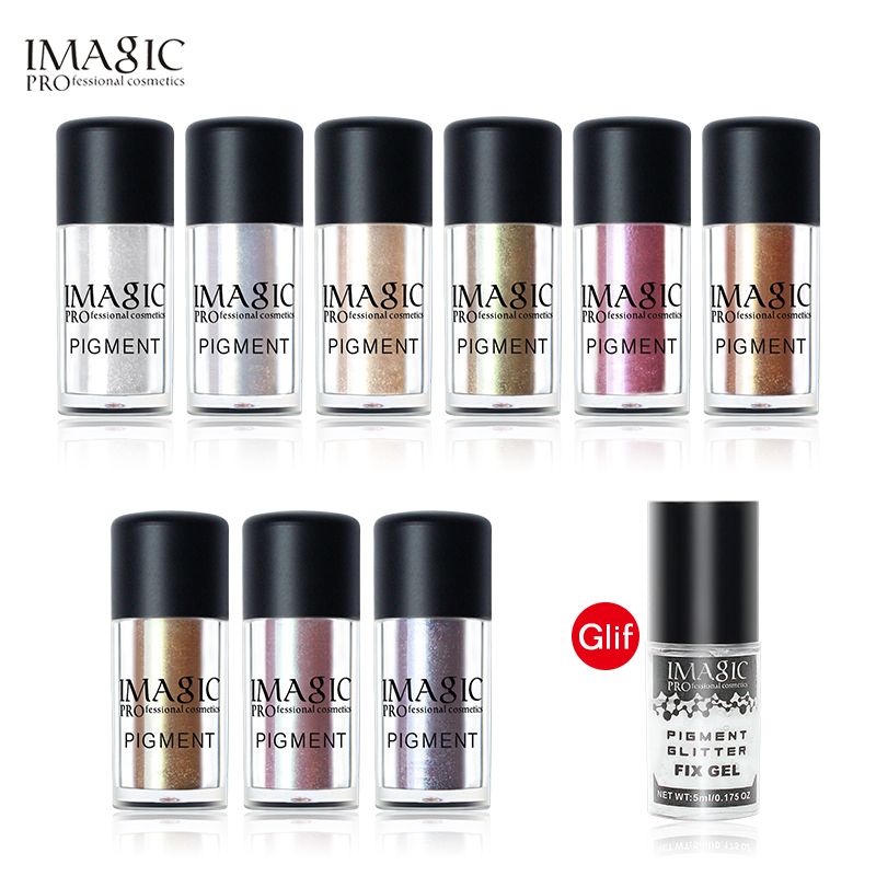 IMAGIC Brand Glitter Chameleon Eyeshadow Metallic Loose Glitter Powder Waterproof Fix Gel Make Up Base Eye Primer Cosmetics