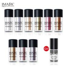 IMAGIC Brand Glitter Chameleon Eyeshadow Metallic Loose Glitter Powder Waterproof Fix Gel Make Up Base Eye Primer Cosmetics