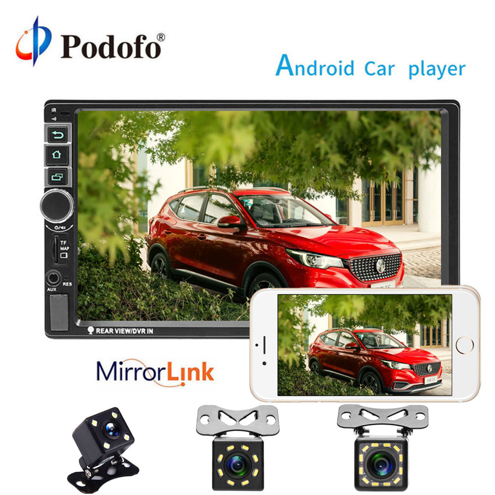 Podofo 7'' 2din Car Multimedia Player Android Universal GPS Radio MP5 Stereo Audio Player Car Video Play Autoradio Bluetooth сумка для инструментов the united states the world up to sata 14 95183 sata