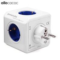 Allocacoc PowerCube Buchse DE Stecker Mit 4 Outlets 2 USB Ports Adapter Für Smart home 16A 250V