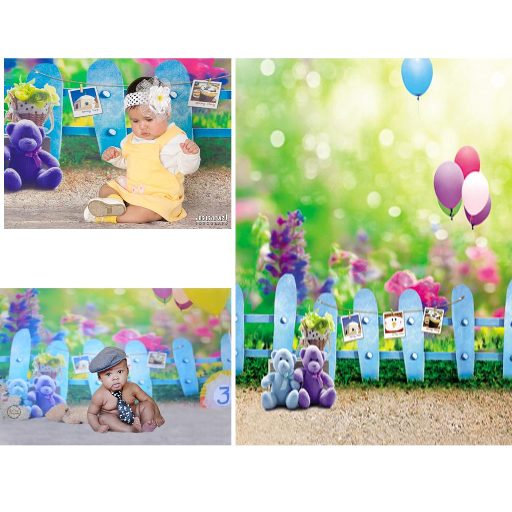 5 6 5ft Backgrounds For Photo Studio Photography Baby Balloon Fences