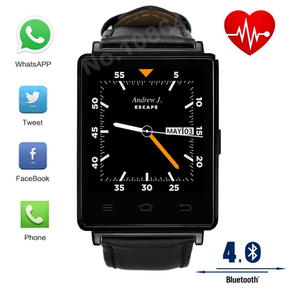 New NO 1 D6 1 63 inch 3G Smart Watch Android 5 1 MTK6580 Quad Core