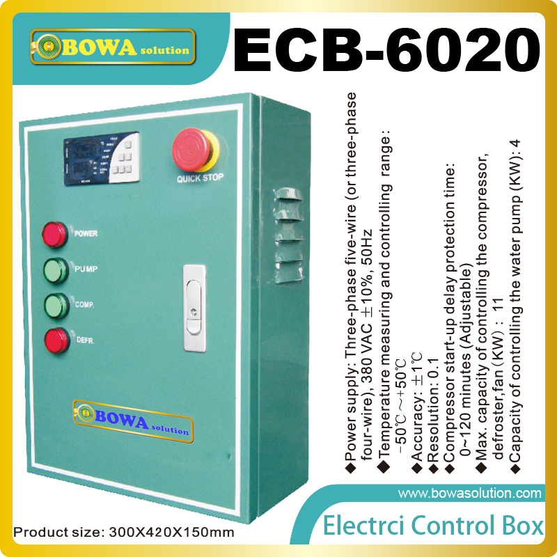 Electrical Control box is used for water cooled compressor unit with defrost of middle and high temperature cold room  система подогрева труб nexans defrost water kit 6m