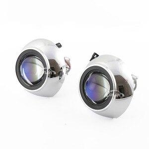 Image 4 - RONAN 2.5Ver8.1 blue coating Bi xenon HID MINI projector Lens H1 car headlight H4 H7 base adapter ring Car Styling retrofit