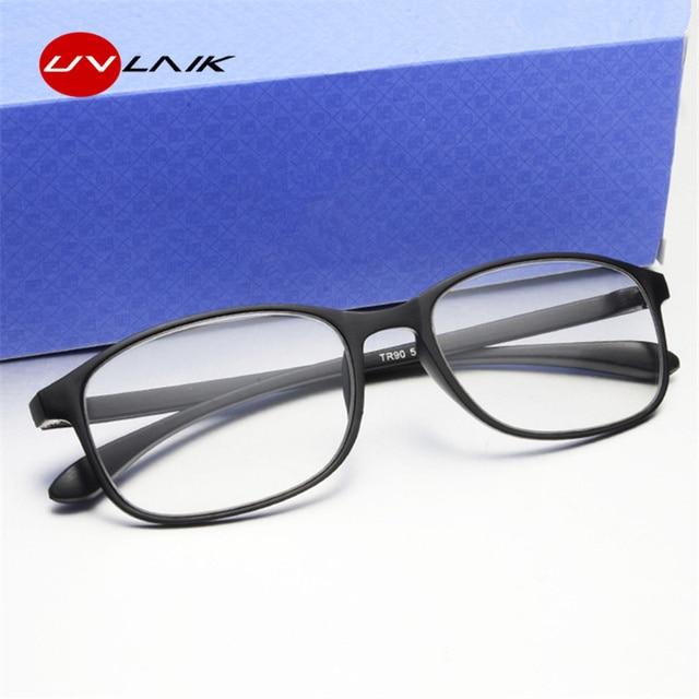 UVLAIK Fashion Reading Glasses Women Ultra-light material Eyewear TR90 Frame Reading Glasses 1.5 Men spectacles Reader Eyeglass