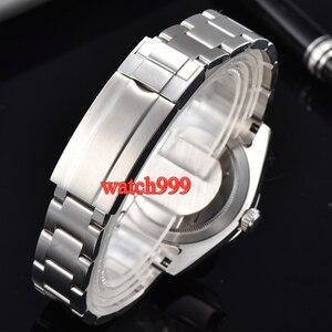 Image 2 - 40mm BLIGER זוהר מכאני גברים שעון ספיר קריסטל שחור חיוג אוטומטי mens שעון