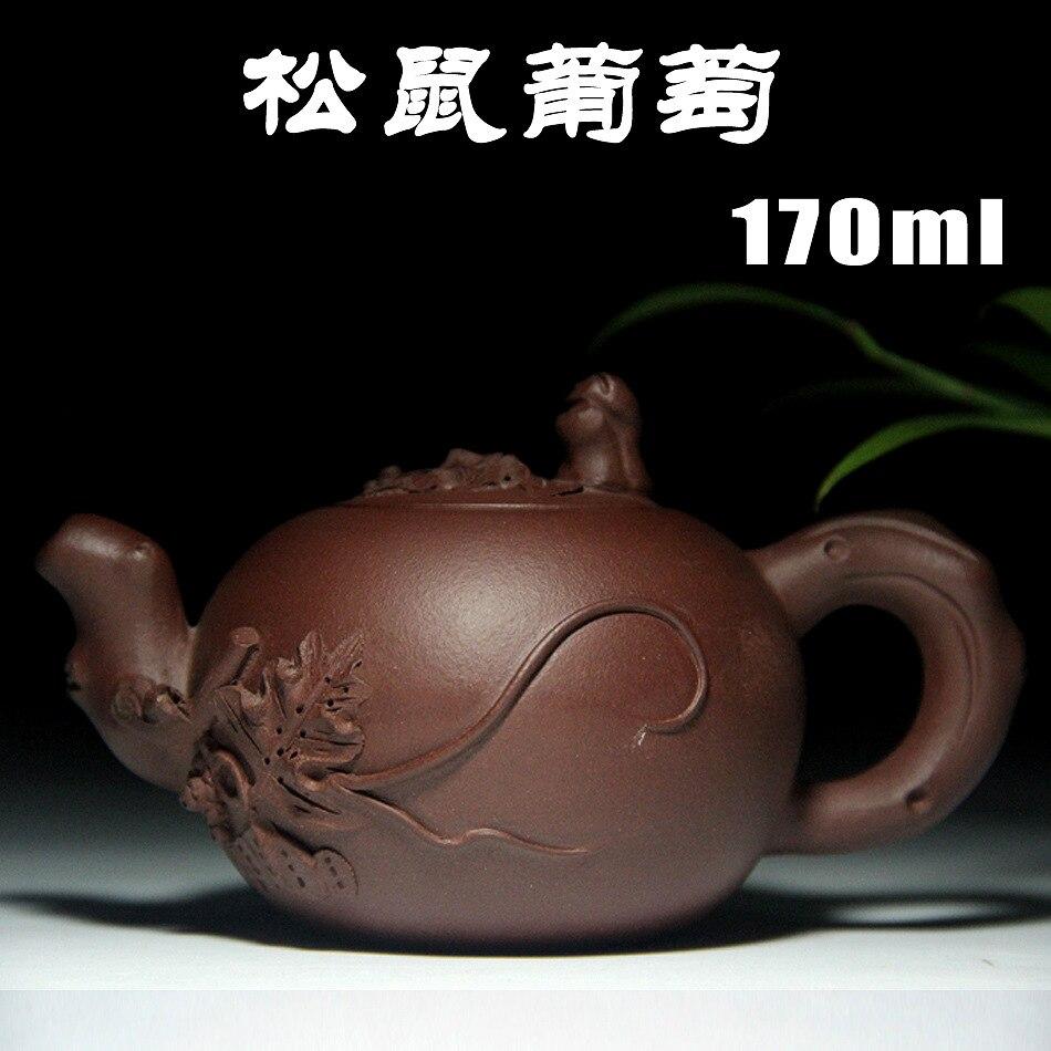 Squirrel grape pot Yixing Genuine master Teapot All Handmade Ore Purple Teapot Tea Set wholesale