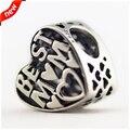 Fits Pandora Bracelets Best Mum Heart Silver Beads 100% 925 Sterling Silver Charms DIY Jewelry 08375