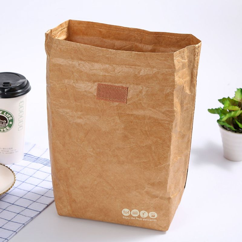 Insulated Brown Paper Lunch Bags Large Reusable Lunch Sack For Adults Work Office Kids School