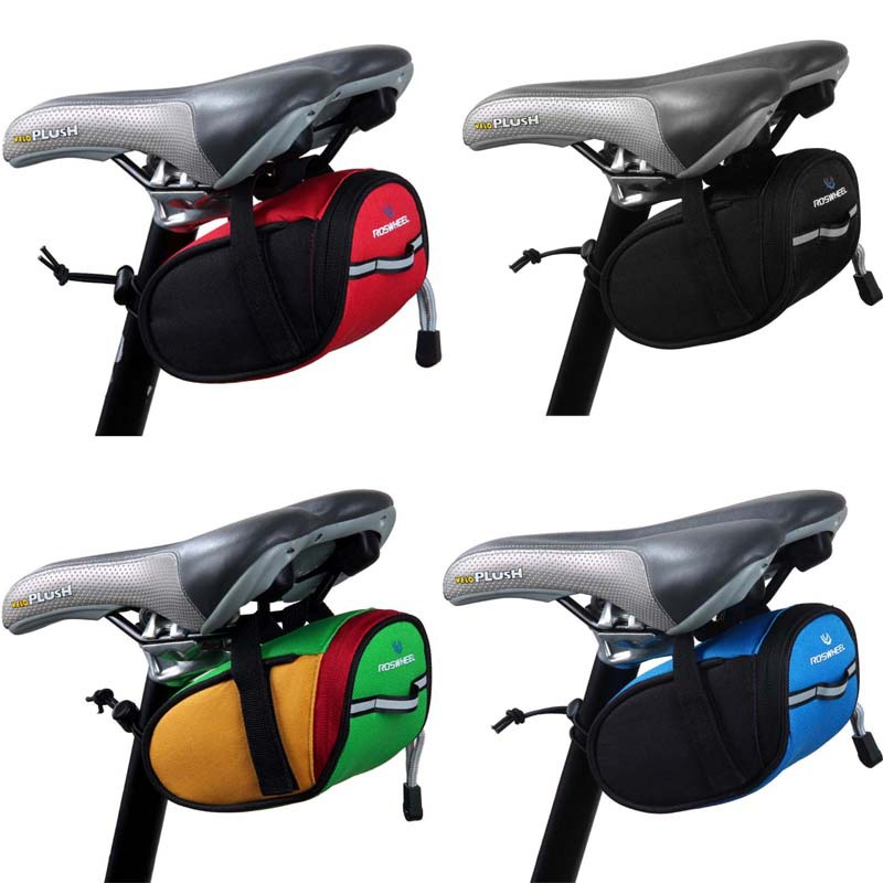 Large Outdoor Cycling Bike Seat Saddle Bag Back Rear Black Pouch Package Black