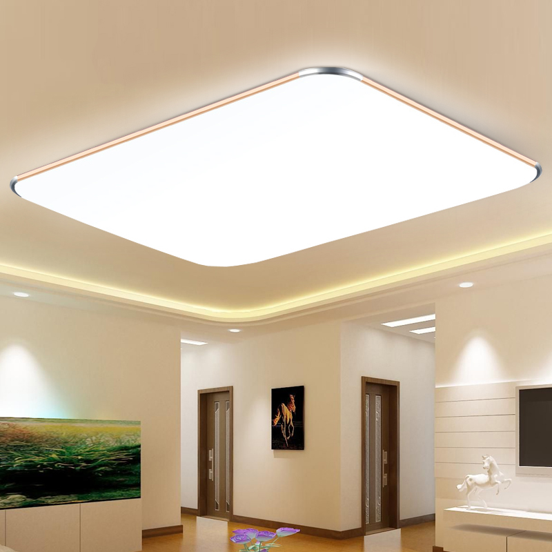 Led ceiling lamp living room Ceiling Lights modern minimalist rectangular office balcony lighting Fixture Indoor AC 90-265v creative bedside wall lamp modern minimalist rectangular corridor balcony living room bedroom background lighting fixture