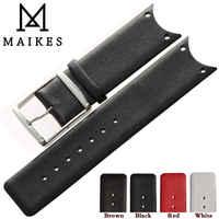 Maikes gute qualität echtes leder uhrenarmband band zubehör mode schwarz uhrenarmbänder für ck calvin klein koh23100 kov231