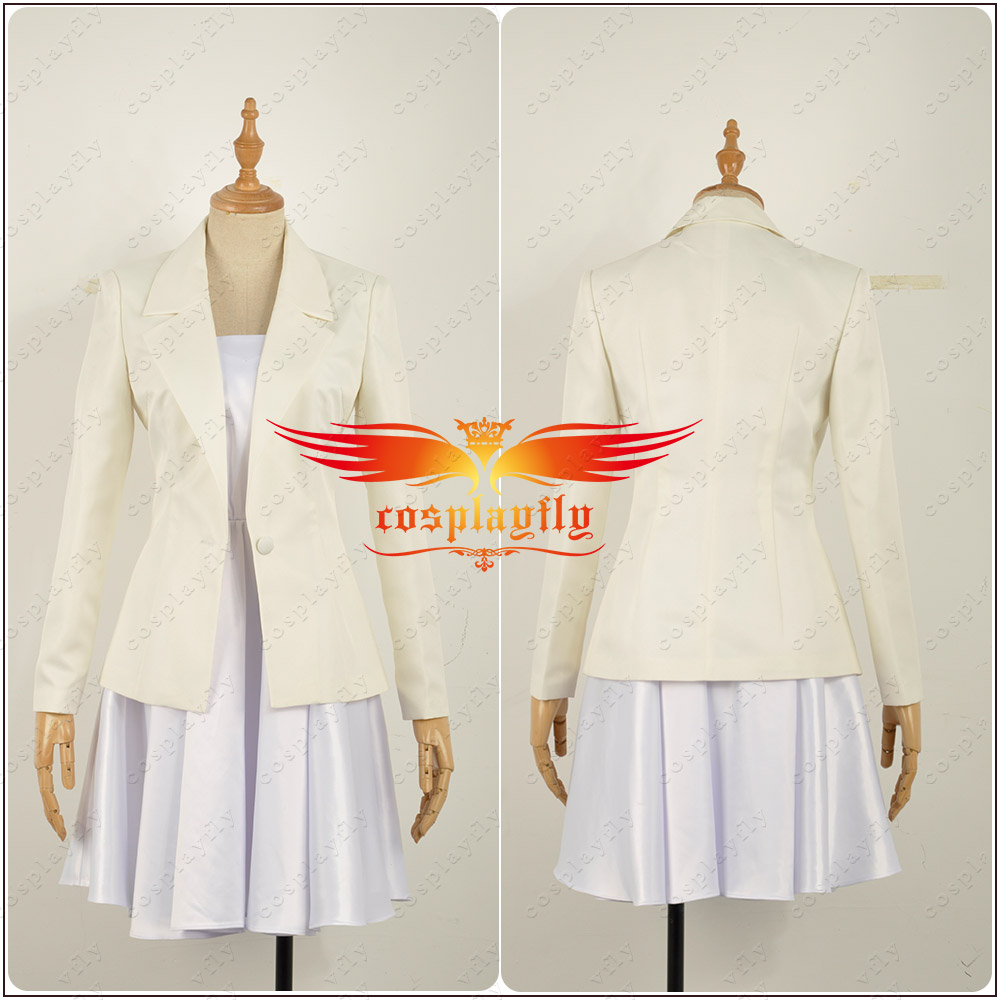 Fate//Apocrypha Epilogue Event FGO Joan Of Arc White Dress Girl Cosplay Costume