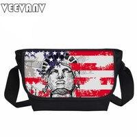 Veevanv new liberty stampato donne messenger borse galaxy universe borse da viaggio per uomo zebre bambino borse da scuola femminile borse a spalla